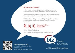 Bfz Flyer Kommunalwahl 2014